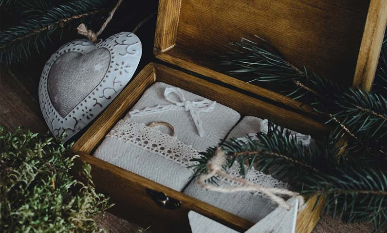 Rustykalne pudełka na obrączki
