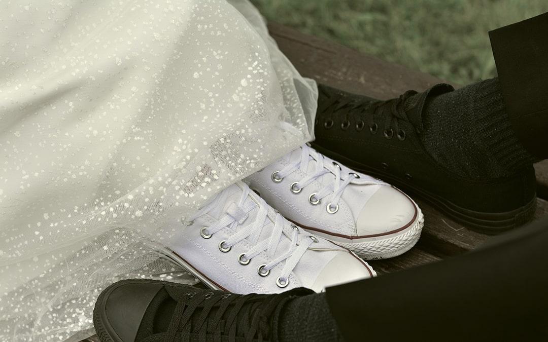 Nie tylko obcas czyli,  buty ślubne na płaskiej podeszwie