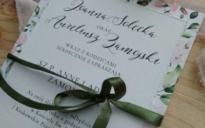 Kiedy rozdać zaproszenia ślubne?